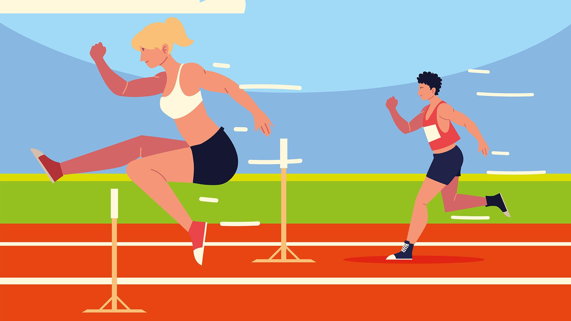 athletics man woman