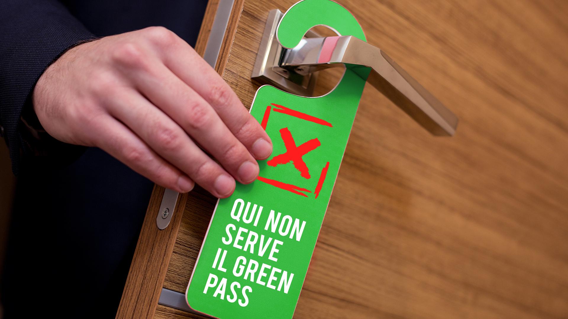 Do not disturb sign hanging on the door